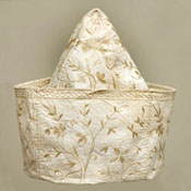 Man's undress cap, Indian export (Bengal) for the English market, early 18th century