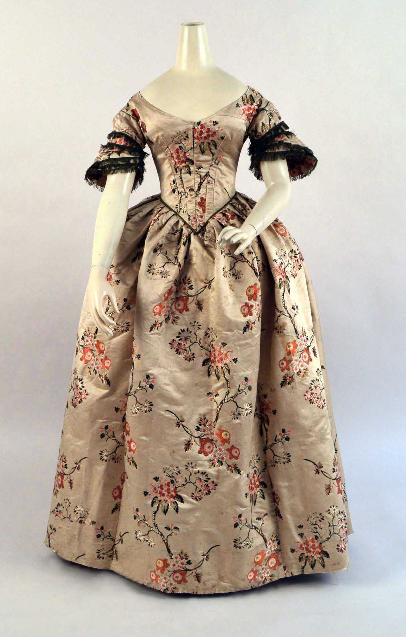 Evening Dress, English, 1840s (side)