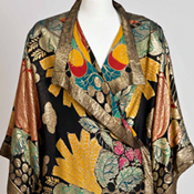 Evening coat, textile by Raoul Dufy, ca. 1925-26